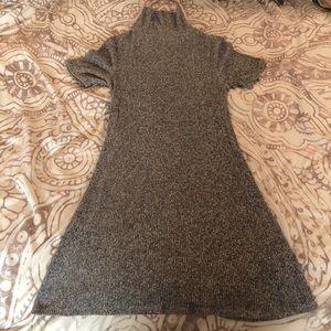 Knit turtle neck dress
